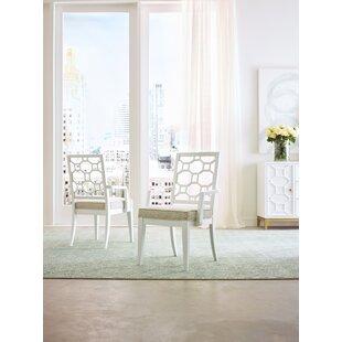 Chelsea Slat Back Arm Chair in White Set of 2