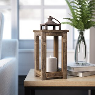 Look for Rustic Pillar Wood Lantern Good price