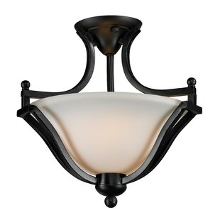 Weyer 2-Light Semi-Flush Mount by Winston Porter