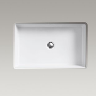 Kohler Kathryn Ceramic Undermount Bathroom Sink and Overflow