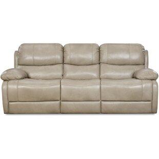 Latitude Run Weccacoe Leather Reclining Sofa