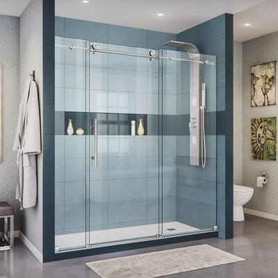 Lesscare Ultra C 72 X 76 Single Sliding Frameless Shower Door