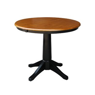 Affordable Cochrane Extension Pedestal Solid Wood Dining Table By Ophelia & Co.