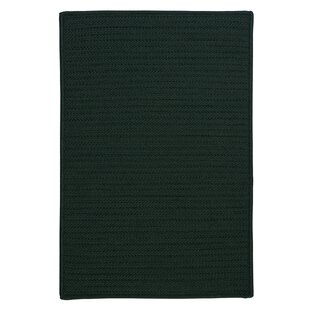 Best Reviews Gilmour Dark Green Solid Indoor/Outdoor Area Rug By Charlton Home