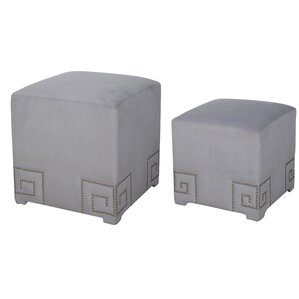 2 Piece Cube Ottoman Set by House of Hampton