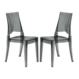 Driscoll Modern Vertical Design Dining Chair (Set of 2) by Ebern Designs