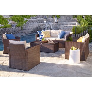 Galgano 5 Piece Sofa Seating Group with Cushions
