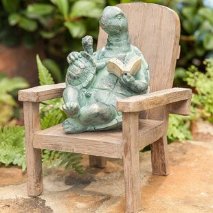 Reading Turtle Garden Statue