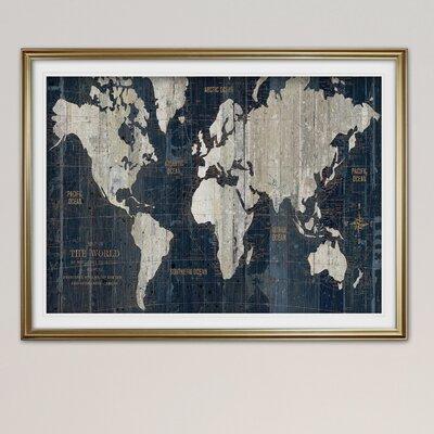 Blue Map Wall Art You Ll Love In 2020 Wayfair
