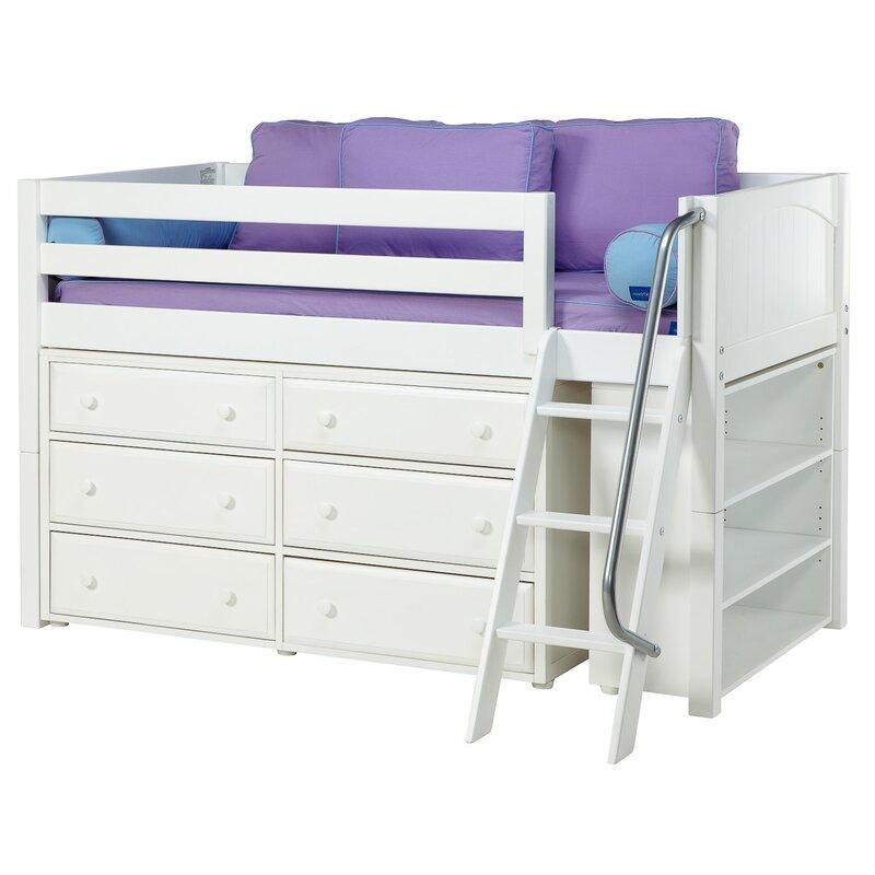 Kicks2 Low Loft Bed With Storage