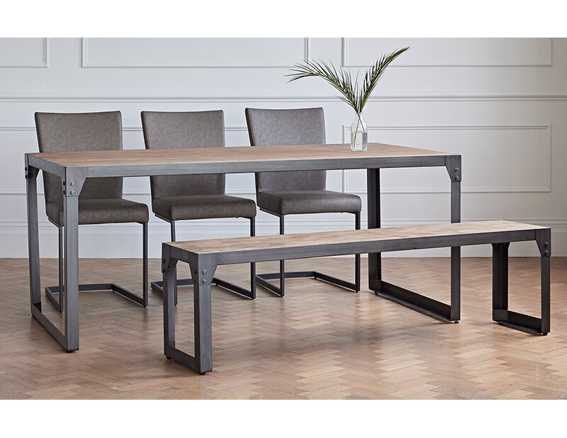 Williston Forge Evie Dining Set With 3 Chairs And 1 Bench Reviews Wayfair Co Uk