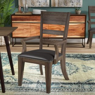 Union Rustic Fiorella Upholstered Wood Dining Chair (Set of 2)