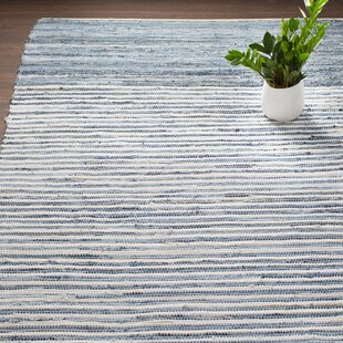 Audriana Hand Woven Cotton Sky Blue Area Rug