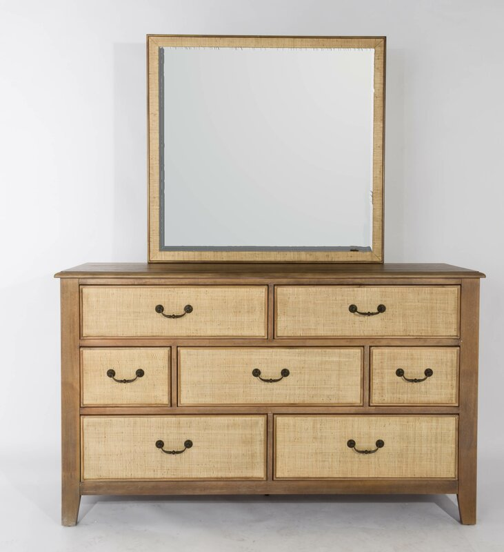 Panama Jack Linen 7 Drawer Dresser with Mirror & Reviews | Wayfair