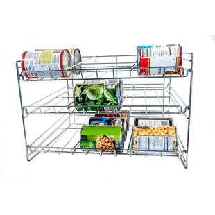 Axis International Chromed Kitchen Can Organizer