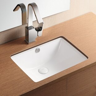 Affordable Ceramica II Ceramic Rectangular Undermount Bathroom Sink with Overflow By Caracalla