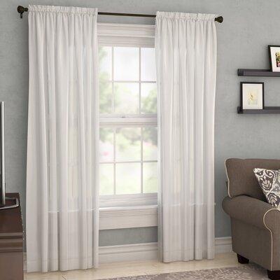 Charlton Home Villareal Voile Single Curtain Panel Size per Panel: 54 W x 84 L, Color: White