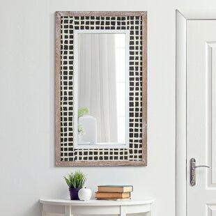 White Washed Wood Floor Mirror Wayfair