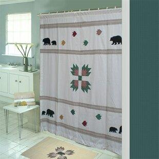 Bear's Paw Cotton Single Shower Curtain