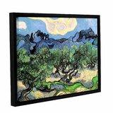 ArtWall Dean Uhlinger 3 Piece Borrego Desert Spring Floater Framed Canvas Set 36 by 54