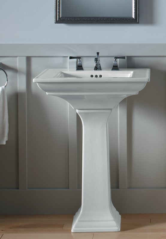 Memoirs  Ceramic 25  Pedestal Bathroom Sink with Overflow. Kohler Memoirs  Ceramic 25  Pedestal Bathroom Sink with Overflow