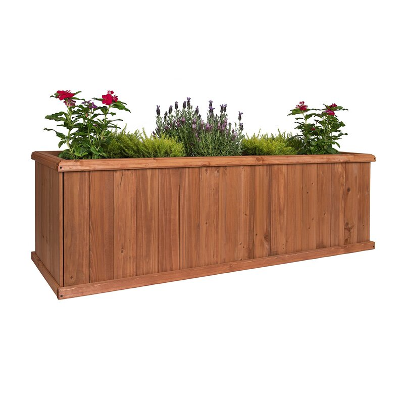 Rectangle Raised Flower Box Planter Bed 2 Tier Soil Pots: Greenstone Garden Churchill Cedar Planter Box & Reviews