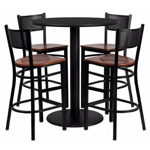 Hardaway Round Laminate 5 Piece Pub Table Set Red Barrel Studio