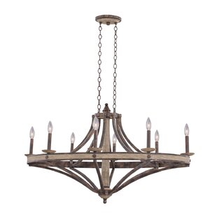 Kalco Coronado 8-Light Wagon Wheel Chandelier