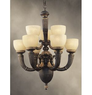 Fleur De Lis Living Willingham 9-Light Shaded Chandelier