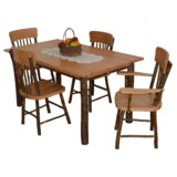 Wyton 5 Piece Solid Wood Dining Set by Loon Peak®