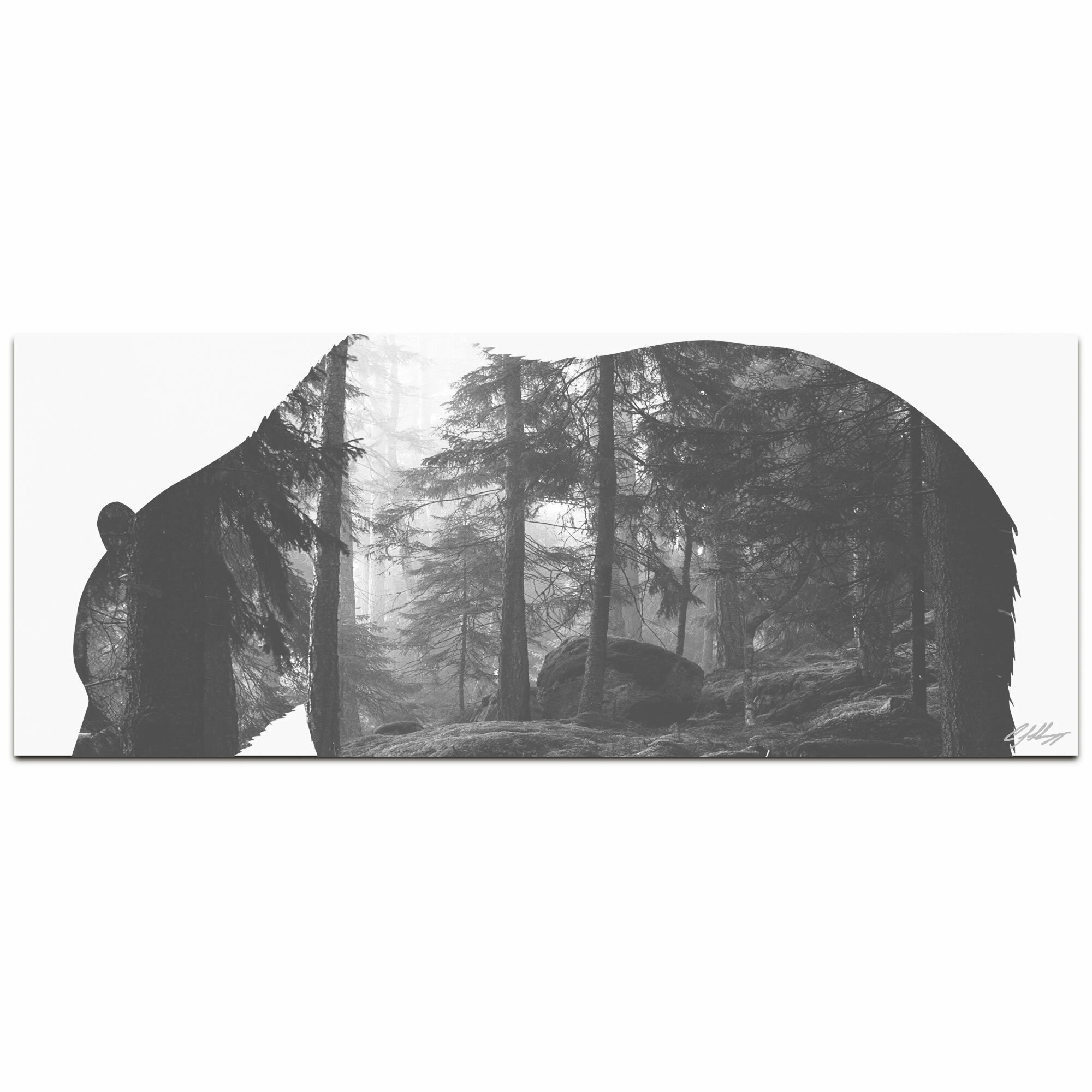 Metal Art Studio Wildlife Grizzly Bear Forest | Contemporary Animal ...