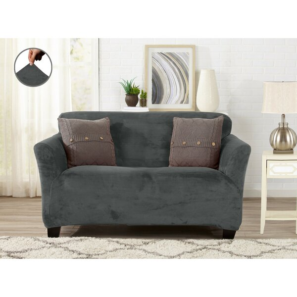 Admirable 2 Cushion Loveseat Slipcover Wayfair Squirreltailoven Fun Painted Chair Ideas Images Squirreltailovenorg