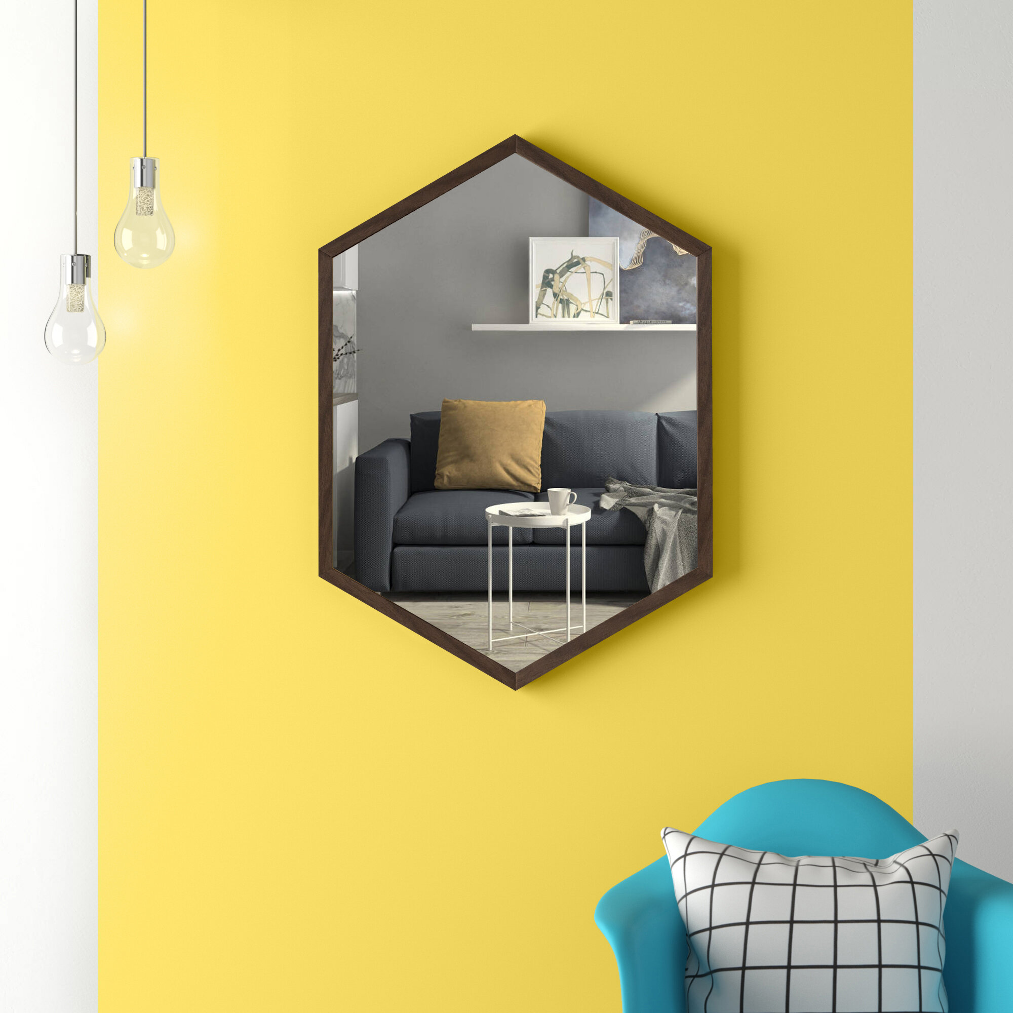 Hashtag Home Effervescence Modern Beveled With Shelves Accent Mirror Reviews Wayfair
