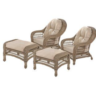 Royalton Garden Conversation 4 Piece Seating Group with Cushions