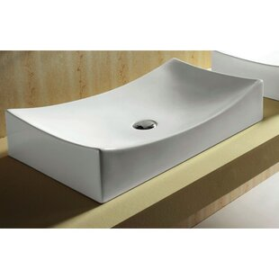 Bargain Ceramica Vitreous China Rectangular Vessel Bathroom Sink By Caracalla