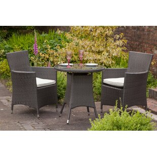 Termonde 2 Seater Bistro Set with Cushions by Lynton Garden