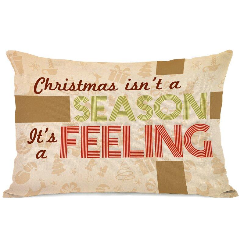 The Holiday Aisle Mauricio Christmas Feeling Lumbar Pillow Wayfair