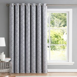 Redmont Geometric Blackout Thermal Grommet Single Curtain Panel