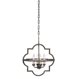 Gabby Athena 4-Light Geometric Chandelier