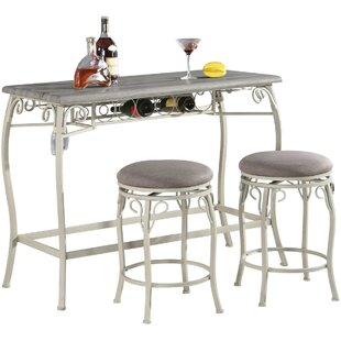 Lochlan 3 Piece Counter Height Dining Set by Ophelia & Co.