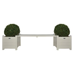 EsschertDesign Square Wood Planter Bench