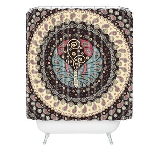 Belle13 Butterfly Mandala Single Shower Curtain