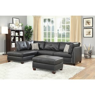 Alcott Hill Draco Sectional with Ottoman