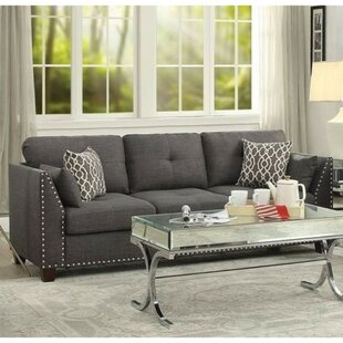 Menchaca Transitional Tufted Back Sofa