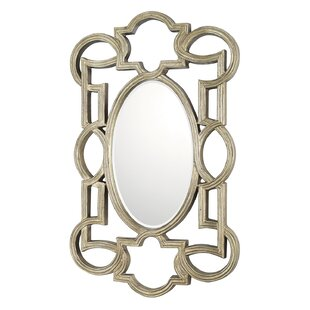 House of Hampton Antique Silver Decorative Wall Mirror