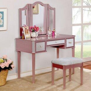 Rosdorf Park Boulanger Vanity Set with Mi..