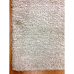 Deals Shag Eyeball Woolen Hand Knotted White Area Rug By Eastern Weavers
