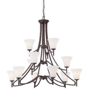 Alcott Hill Parthena 12-Light Shaded Chandelier