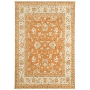 Ferrero Wool Terracotta Rug by Marlow Home Co.