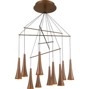 George Oliver Ipswich Platinum 10-Light LED Shaded Chandelier